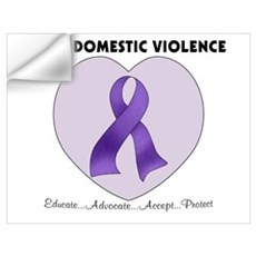 Stop Domestic Violence Wall Decal